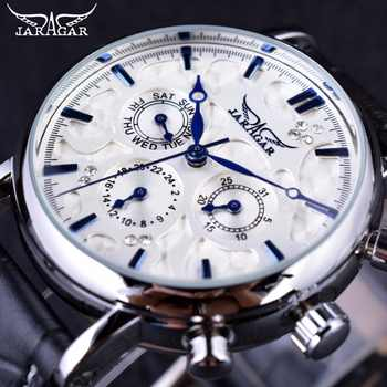 Jaragar Blue Sky Series Elegant Design Genuine Leather Strap Male Wrist Watch Mens Watches Top Brand Luxury Clock Men Automatic - DISCOUNT ITEM  0% OFF All Category