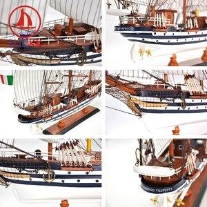 Image 5 - LUCKK 65 см AMERIGO VESPUCCI деревянная фотография современные аксессуары для украшения интерьера дома ручная работа корабли игрушки орнамент