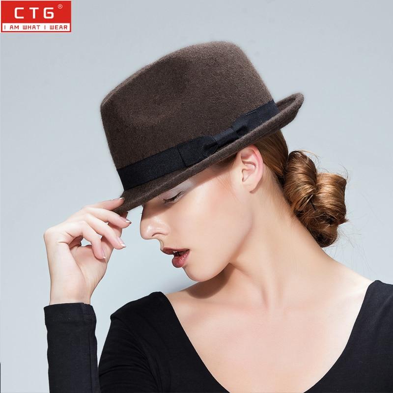 Lady British spring winter all-match jazz hat <font><b>chapeu</b></font> fedoras masculino, panama hat female Jazz caps B-1359