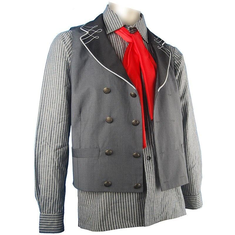 BioShock Infinite Booker Dewitt Outfit Waist Coat Vest Shirt  Halloween Cosplay Costume Men Adults