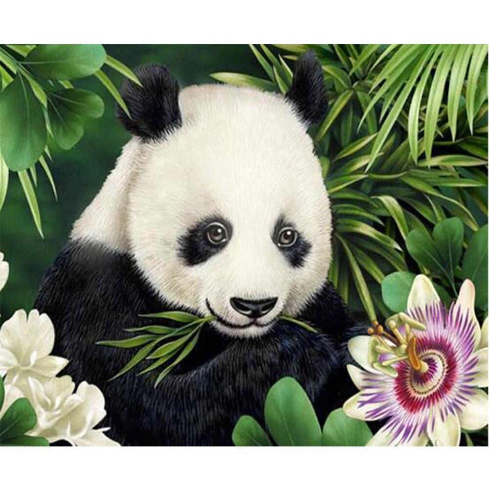 607 49 De Réductionjoli Petit Panda Diamant Broderie Bricolage Diamant Dessin De La Parure De Salon Avec Foret Point De Croix Fait Main Y740 In