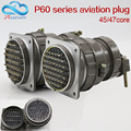 Aviation plug socket round connector P60 series 45core47core diameter 60MM aviation plug