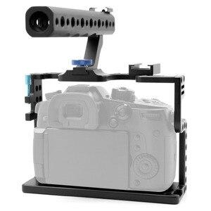 Image 4 - BGNing soporte de Carcasa protectora para cámara, con empuñadura superior para Panasonic Lumix GH5/GH5s, Kit de estudio de foto de cámara