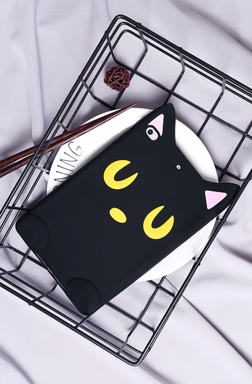 black cat with yellow eyes 3D black cat and brown bear iPad Mini 1/2/3 smart case