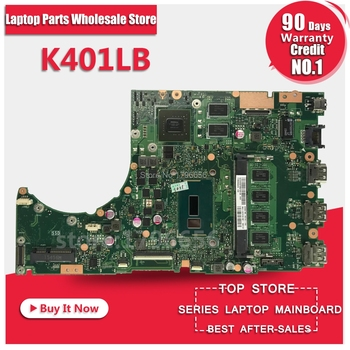 for ASUS K401L K401LB K401LN K401LX laptop Motherboard REV2.0 DDR3 GT940 with processor 4GB memory on board mainboard tested OK