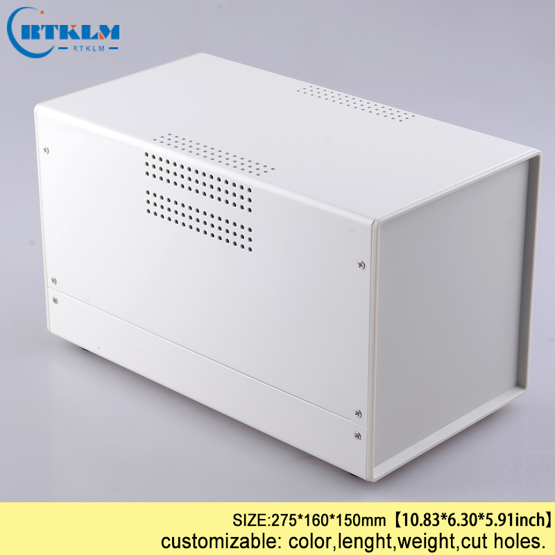 цена на Two colors Iron enclosure for junction box metal electronic enclosure diy iron profile housing instrument case 275*160*150mm
