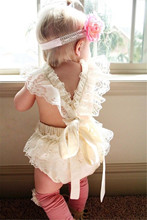 Baby Girl's princess white lace Rompers Infant Clothes Cute Floral Sleeveless Newborn Baby Lace Romper One Piece Baby Clothing