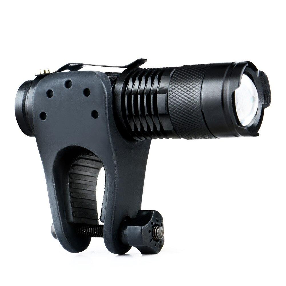 Portable Q5 Adjustable Focus 1200 Lumens LED Flashlight Torch AA 14500 Mini Penlight Lantern Bike Bicycle Torch Clip Holder