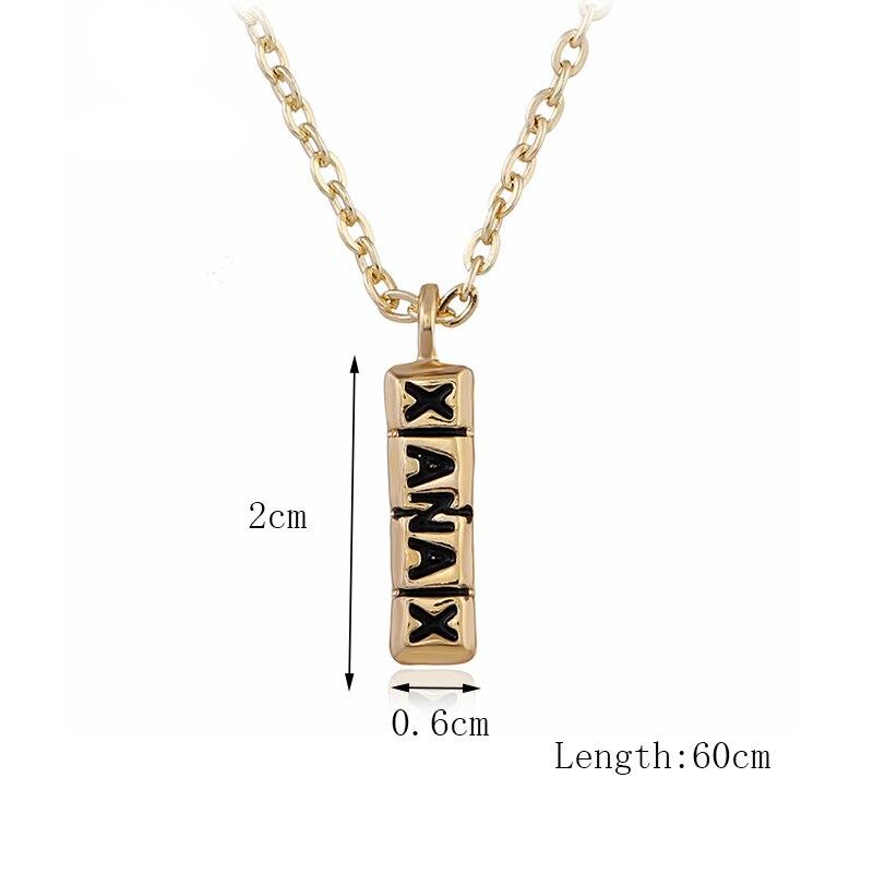 Хип-хоп ювелирные изделия Модные золотые длинные цепочки ожерелья для женщин и мужчин персонализированные буквы Орел молитвенный знак карта кулон ожерелье - Окраска металла: N009-1