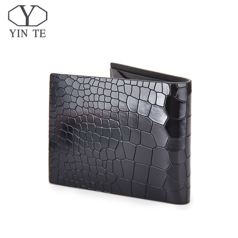 YINTE Leather Men Wallet Alligator Pattern Luxury Leather Wallets Office Male Wallet Mature Man Bifold Card Wallet T8203C