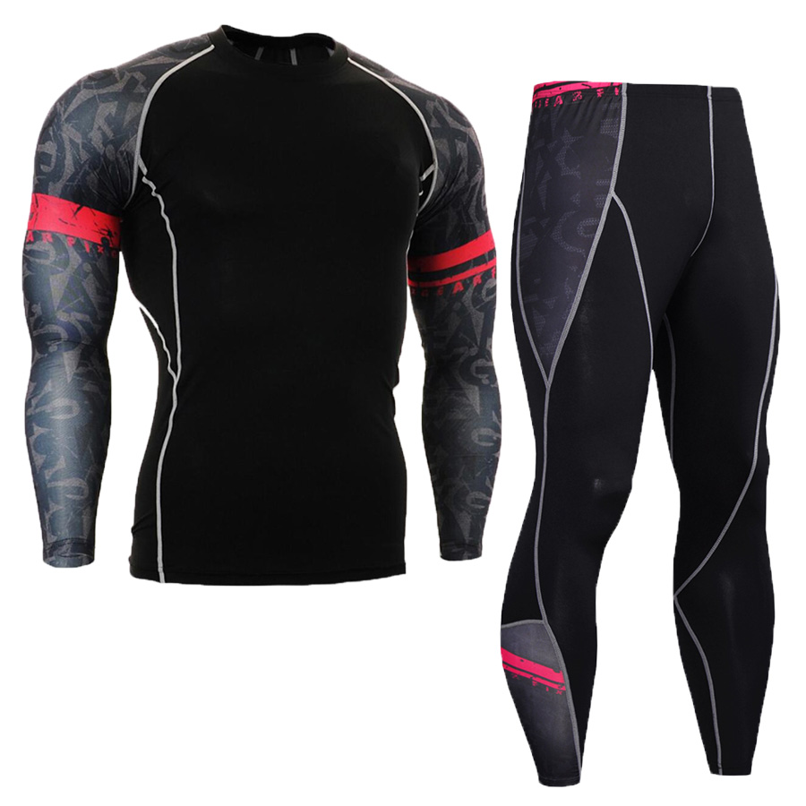 New Fitness Compression Men/'s The Punisher Bodybuilding Tights Shorts Rash Guard