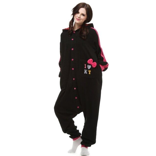 Nabeshima Животных Черный кот пижама Для Взрослых сна lounge Мужской Пижамы  Kigurumi Косплей Костюм Животных Onesies 78f4e72f63a5a