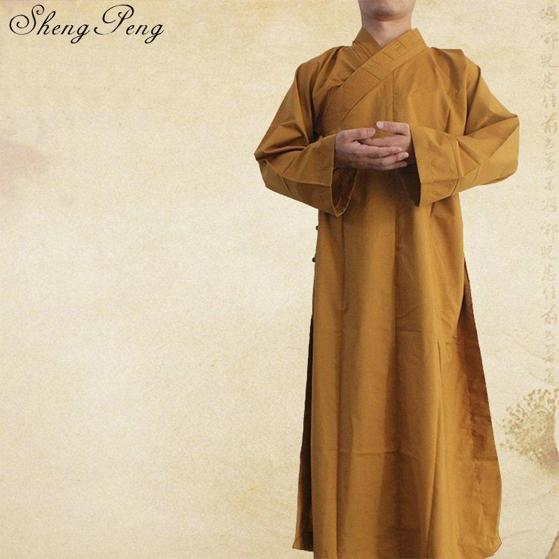 Buddhist monk robes chinese shaolin monk robes men traditional buddhist monk clothing uniform shaolin monk clothing