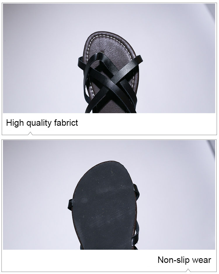 New Women Sandals Gladiator Summer Casual Women Shoes Large Size Rome Flat Sandals Lace-Up Beach Comfortable Sandals Women 2019