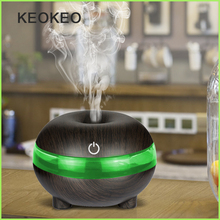 KEOKEO Air Humidifier Aroma Essential Oil Diffuser 300ML USB Ultrasonic Air Humidifier Portable Aroma Purifier LED For Home