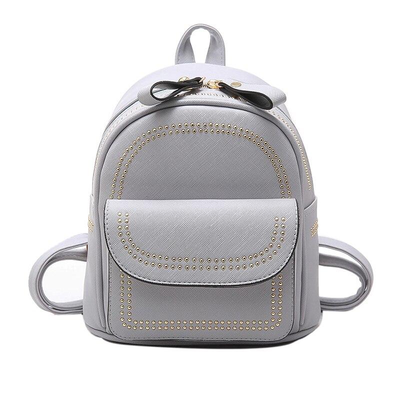 New Design Mini Rivets Backpack For Women Girls 2017 Children School Bag Women Backpack Mochila Escolar Female Rucksack (22)