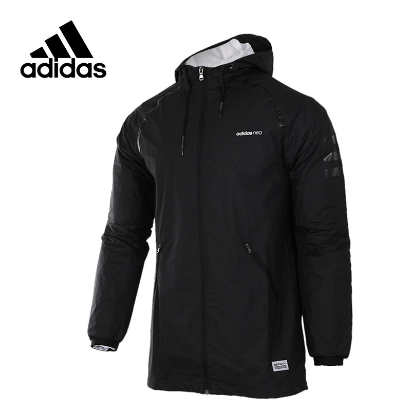 eab73d7385d4 Adidas Original New Arrival Official NEO Men s Windproof Jacket Hooded  Leisure Sportswear BR8624 CD1681