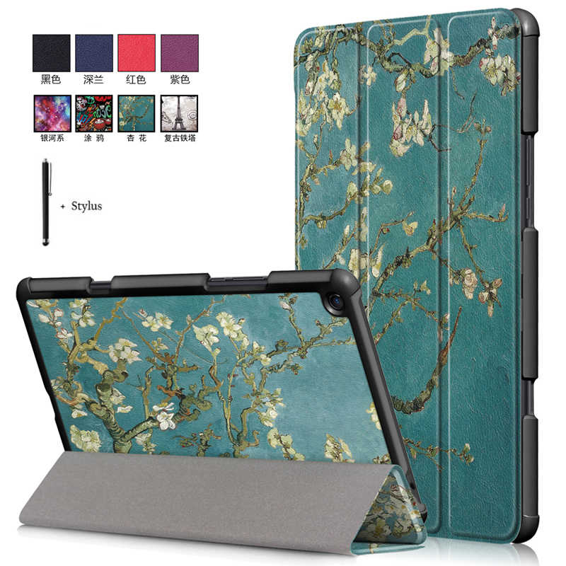 Wake Sleep Funda For Xiaomi Mi Pad 4 Plus 10.1''Print Case For Xiaomi mipad 4 Plus 10.1'' Flip PU Leather Stand Cover+Stylus