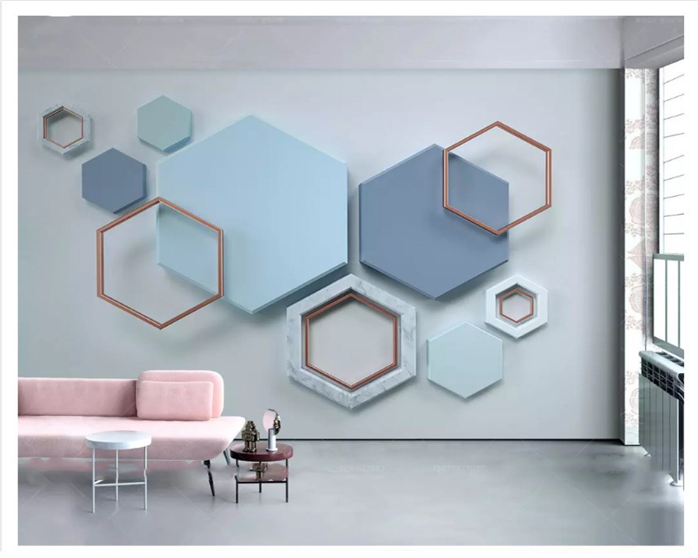 beibehang New fashion personality wallpaper 3d hexagonal mosaic modern minimalist geometric TV background wall papers home decor Herbal Products cb5feb1b7314637725a2e7: 17283006|17431924|17434214|17440085|17470577|17471455|17598523|17742627|17742670|18652552