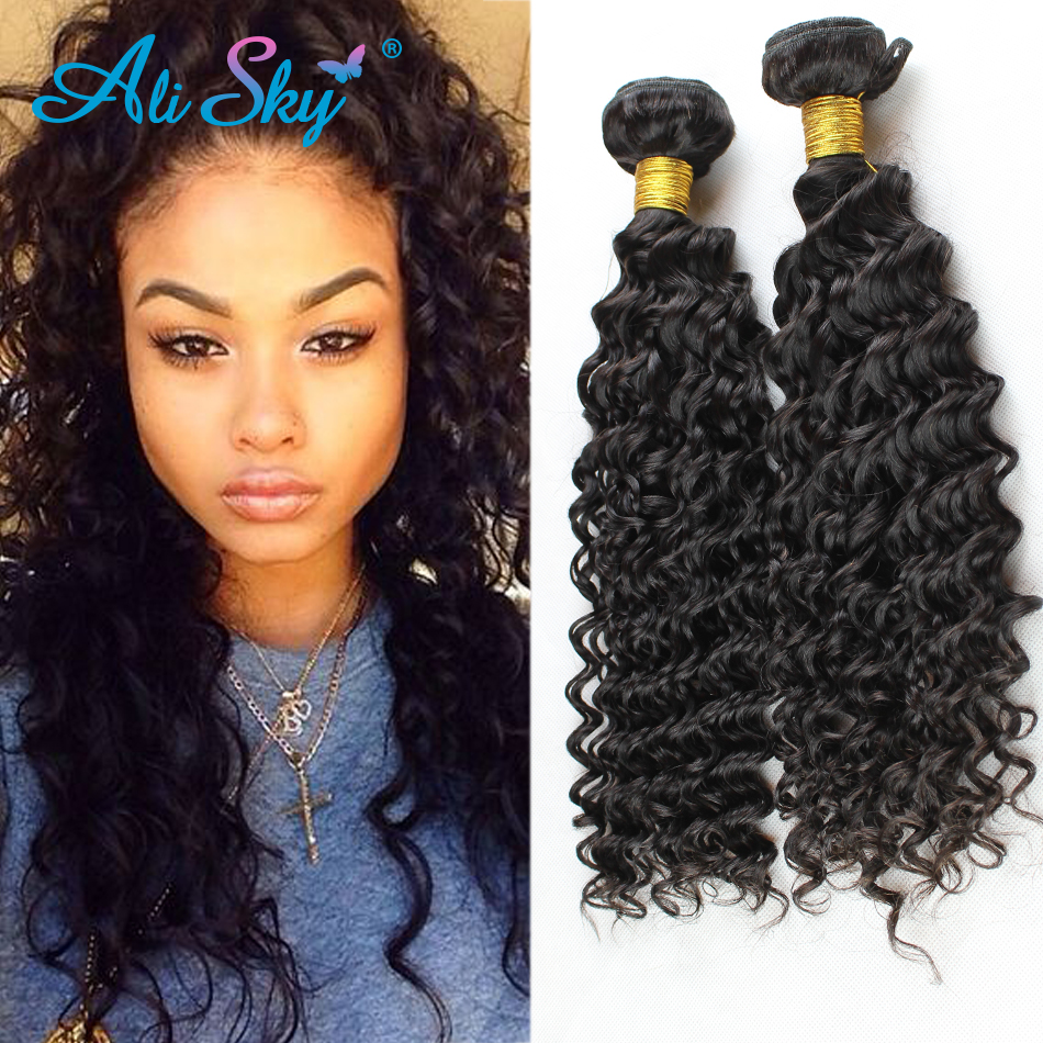 Brazilian Deep Curly Virgin Hair 3pcslot Queen Hair Products