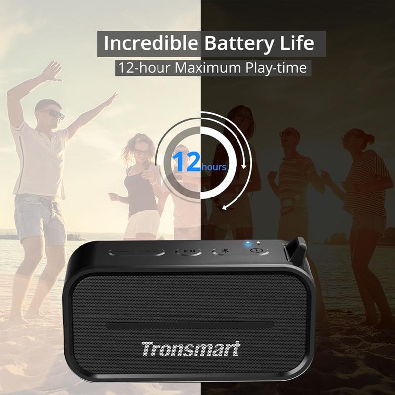 Tronsmart Element T2 haut-parleur Bluetooth 4.2 haut-parleur résistant à l'eau extérieur haut-parleur Portable et Mini haut-parleur avec Micro SD - 4