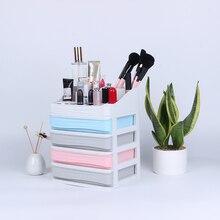 Plastic Cosmetic Organizer Makeup Organizer Make up Storage Drawer Box Container Nail Casket Holder Desktop Sundry Storage Case