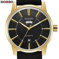 DOOBO Fashion Casual Wrist Golden Watch Men Watches Top Brand Male Clock Quartz Watch Business Quartz