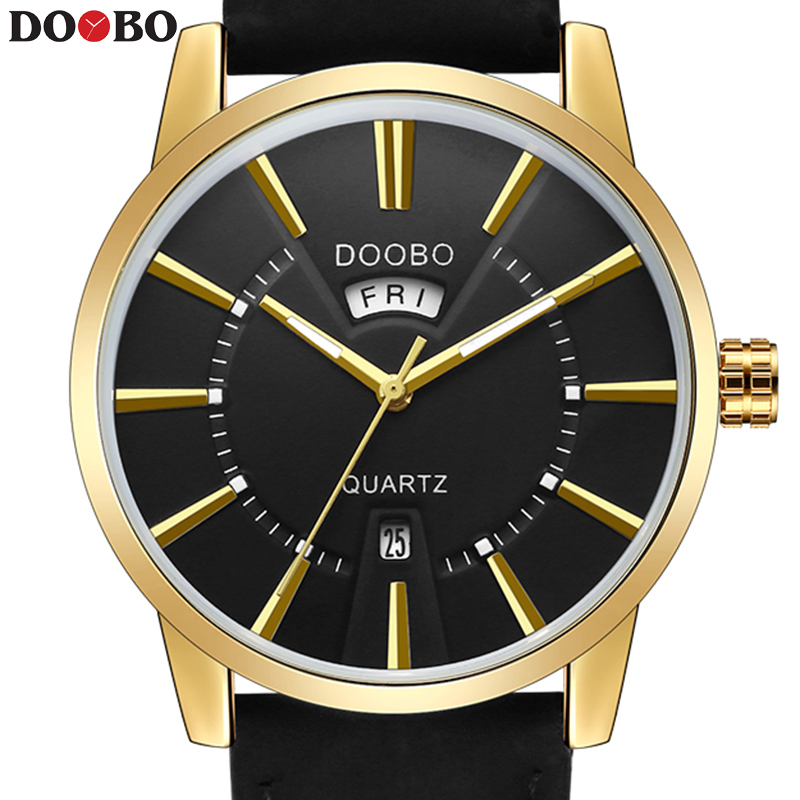 DOOBO Fashion Casual Wrist Golden Watch Men Watches Top Brand Male Clock Quartz Watch Business Quartz Watch Relogio Masculino 2017 watches men top brand luxury golden men s watch fashion quartz watch casual male sports wristwatch clock relojes doobo