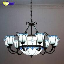 FUMAT Europischen Stil Vintage Wohnzimmer Kronleuchter Hotel Kreative Tiffany Kurze Grosse Lichter LED Glasmalerei Lampe