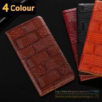 For Galaxy S3 Mini Case Luxury Texture Genuine Top Leather Cover Flip Card Phone Bag Cover