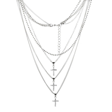 3 Cross Necklaces Pendant