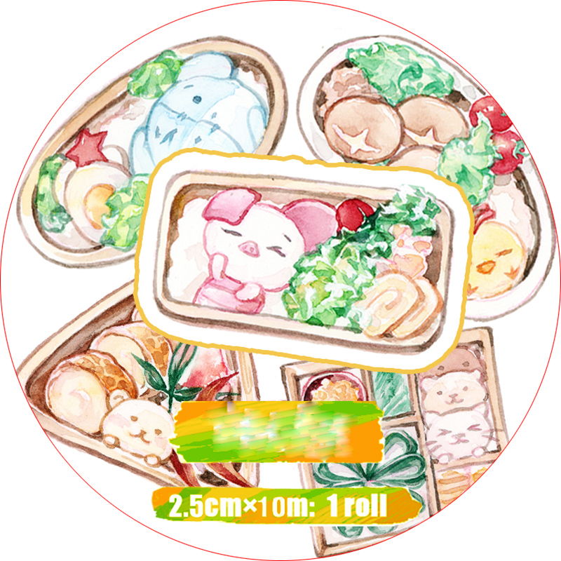 Special ink 25mm*10m Kawaii Japanese Bento lovely food Decorative Washi Tape DIY Planner Diary Scrapbooking Masking Tape EscolarSpecial ink 25mm*10m Kawaii Japanese Bento lovely food Decorative Washi Tape DIY Planner Diary Scrapbooking Masking Tape Escolar