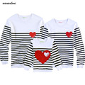 2016 Family Matching Clothing Soft Cotton Shirt Matching Mother Daughter Clothes Family Look Style Father Mother Son Set AA714