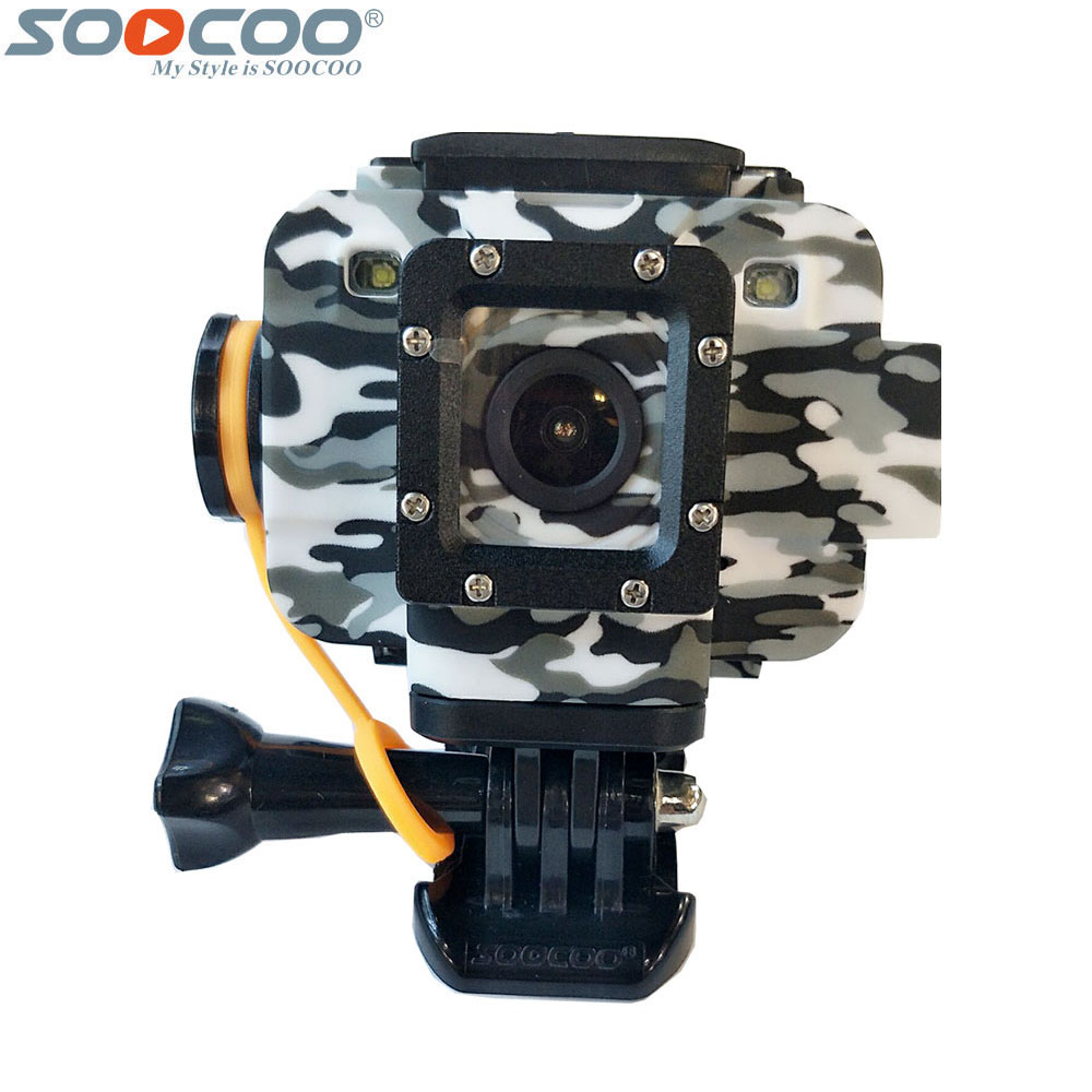 S80W Camouflage Nu Action Étanche Caméra 1080 p de Vision Nocturne WIFI Sports de Plein Air Mini DV Soutien Externe Microphone
