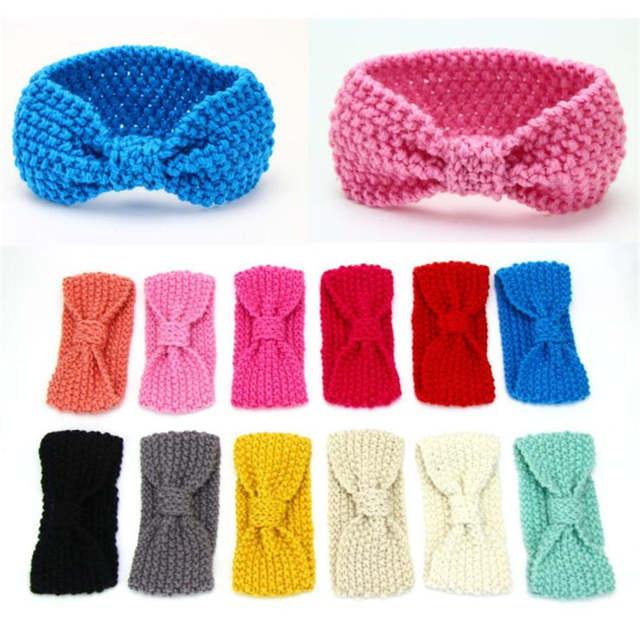Winter Warm Knit Crochet Children Turban Headband Baby Girls Kids Hair Head  Bands Wrap Accessories Hairband Headwrap Headdress