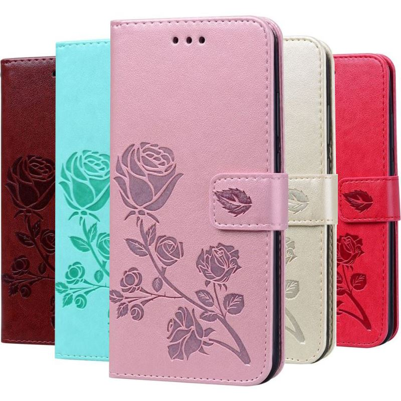 Luxury Rose Flower Case For Samsung Galaxy j2 Pro Core A9 j8 2018 j1 Mini Prime A3 A5 j7 2017 2016 Wallet Stand Cover DP17E in Wallet Cases from Cellphones Telecommunications