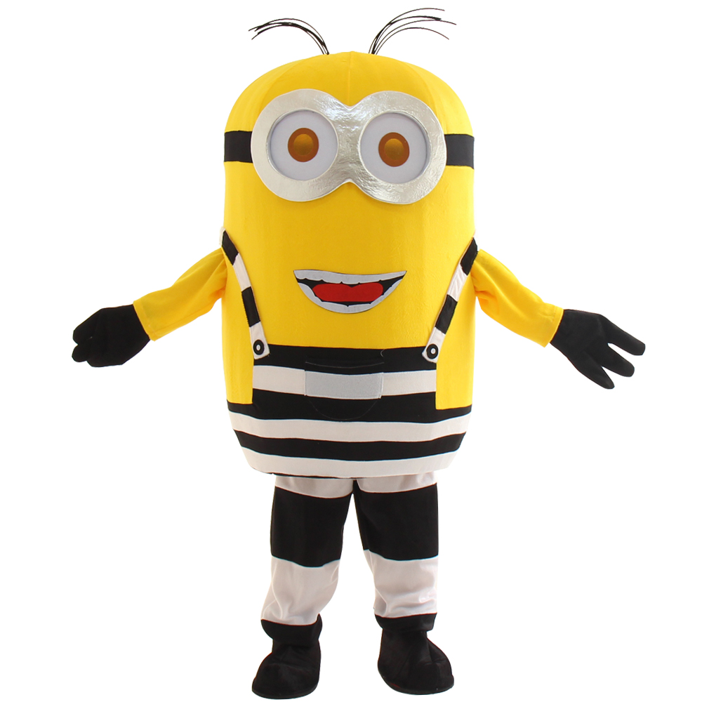 2017 new Despicable Minion Mascot Costume Cartoon halloween Party Dress Adult Size Free Shipping