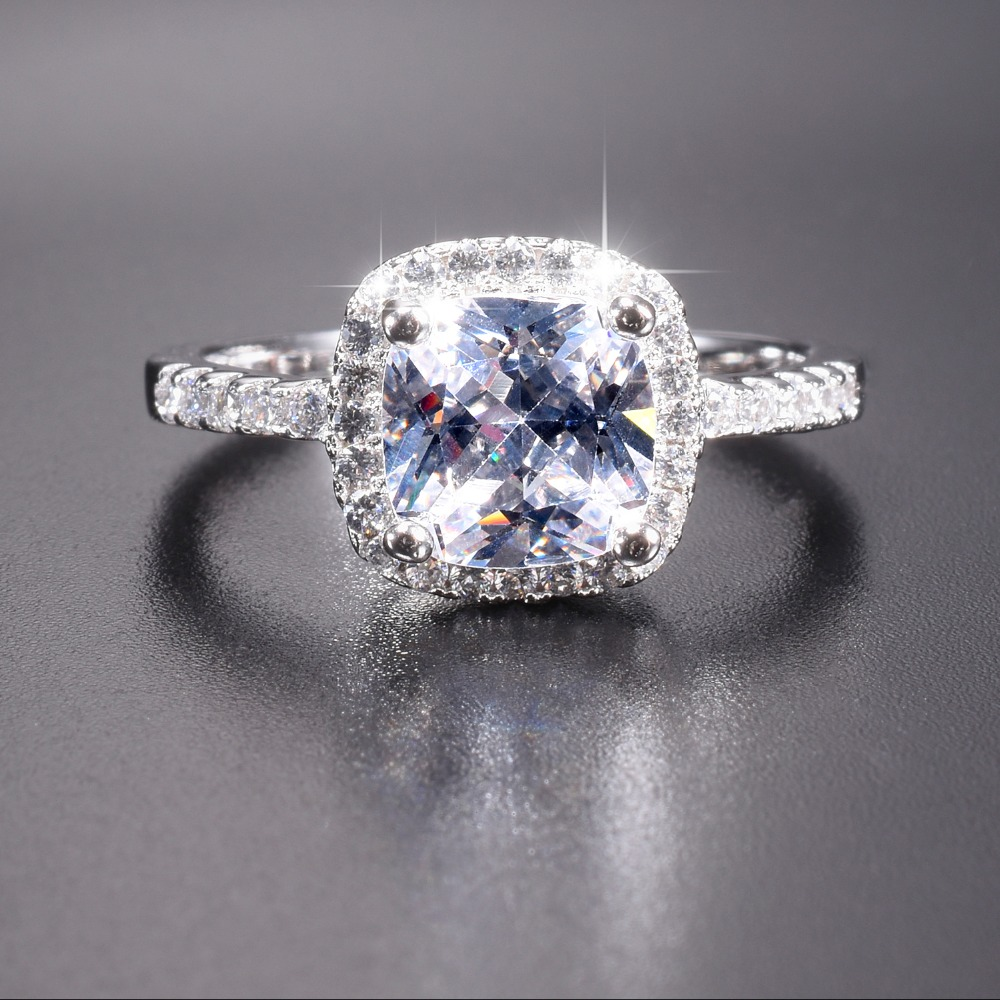 Promotion!! 7$ Real Solid 100% 925 Sterling Silver Wedding