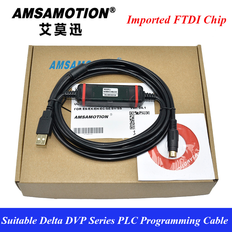 USB-DVP Suitable Delta PLC Programming Data FTDI Download Line USBACAB230 DVP ES EE SS suitable delta plc programming cable usb dvp communication cable usbacab230 dvp es ee ss