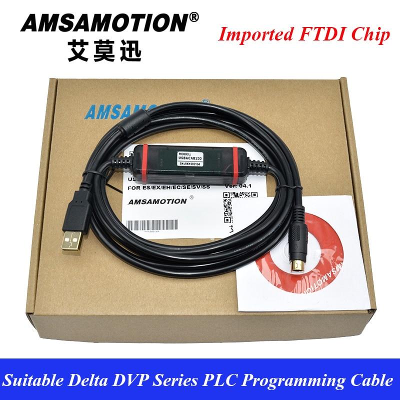 USB-DVP Suitable Delta PLC Programming Data FTDI Download Line USBACAB230 DVP ES EE SS usb koyo suitable koyo sn sm sh sr dl nk plc programming cable communication data download line