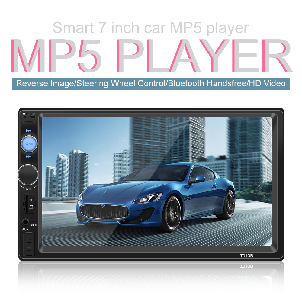 7 Inch 2 DIN Bluetooth In Dash HD Touch Screen Car Video FM Radio Stereo Player Mirror Link for Phone Aux In Rear View Camera