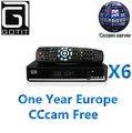 Novo x6 solovox s dvb-s2 hd receptor de tv por satélite com 1 ano de europa CCcam Espanha Francês WEBTV 2USB Youtube 3G suportados Settop Box