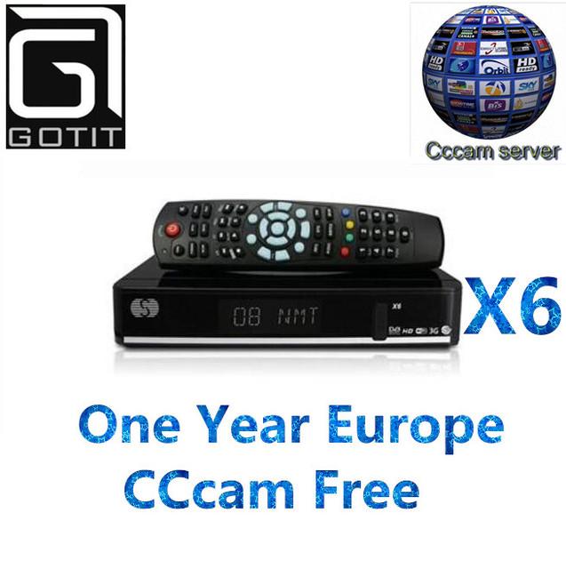 Nuevo x6 solovox s dvb-s2 hd receptor de tv por satélite con 1 año europa España Francés WEBTV 2USB Youtube CCcam 3G apoyado Sintonizador