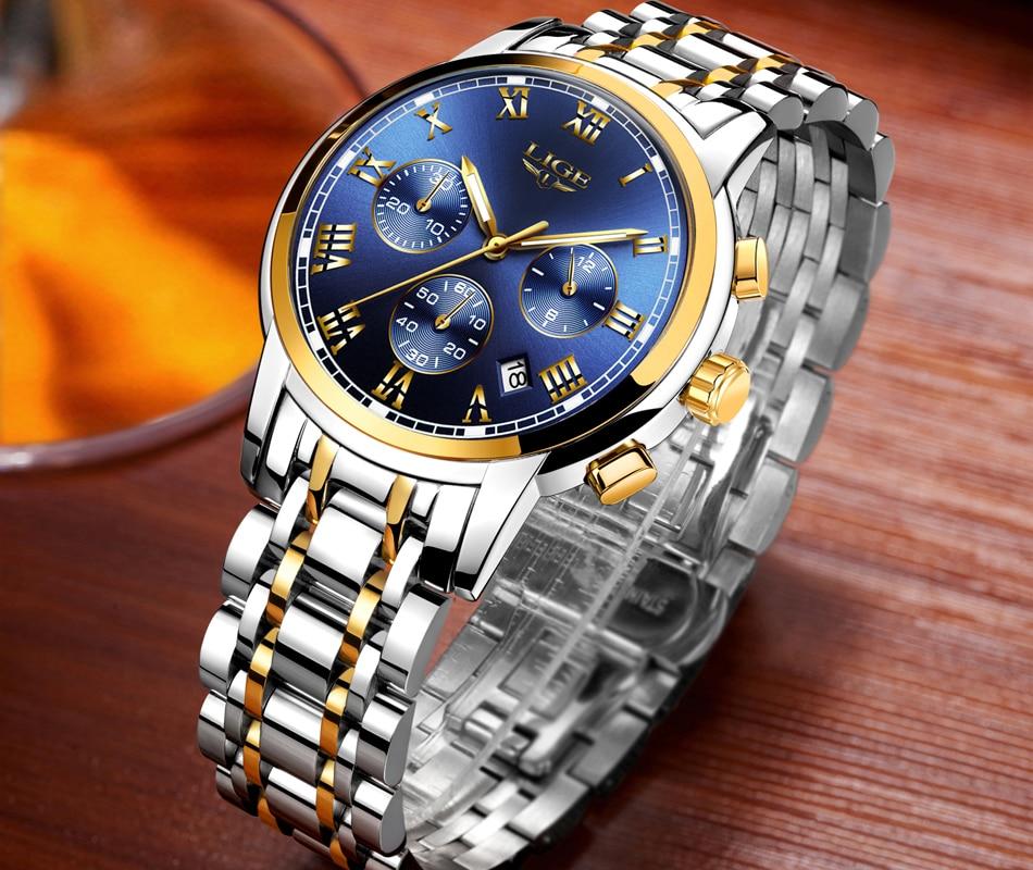 HTB10cIGX8DH8KJjSszcq6zDTFXaA LIGE Men Watches Top Luxury Brand Full Steel Waterproof Sport Quartz Watch Men Fashion Date Clock Chronograph Relogio Masculino
