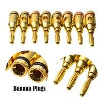 20 шт. 4 мм К 24 К позолоченный банан провод свечей кабель инструменты для наращивания волос музыкальный для динамик усилители домашние адапте...