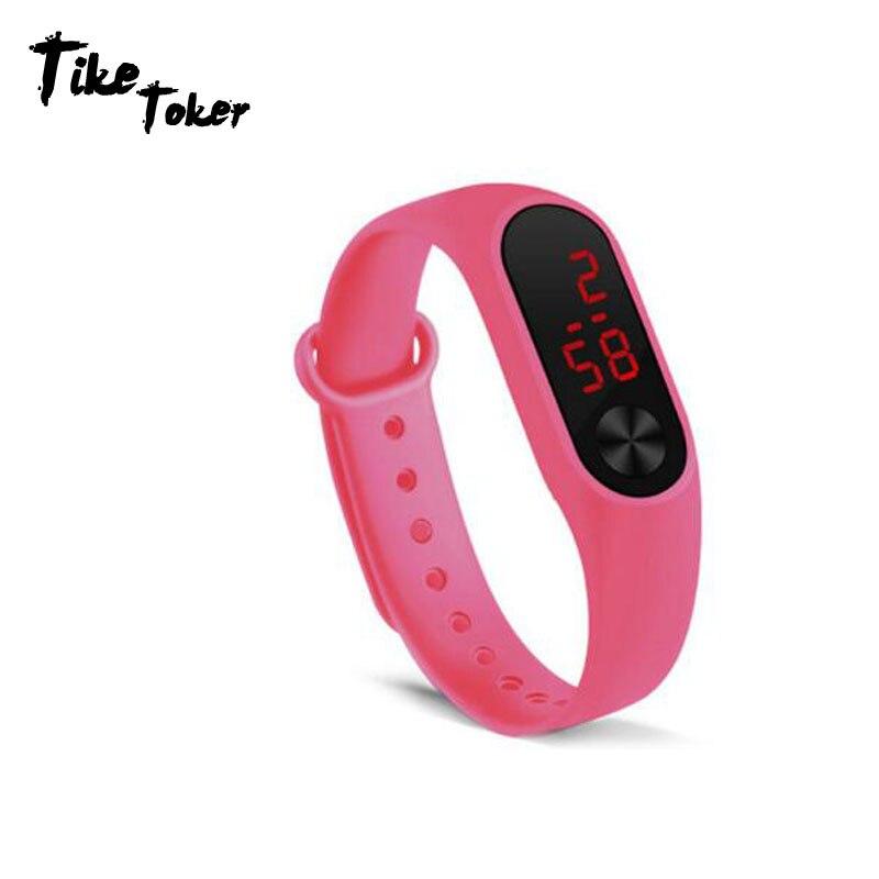 Brillant Senior Led Digital Display Männer Frauen Mode Sport Uhren Junge Mädchen Im Freien Silica Gel Armband Uhr Kinder Armbanduhr Montre