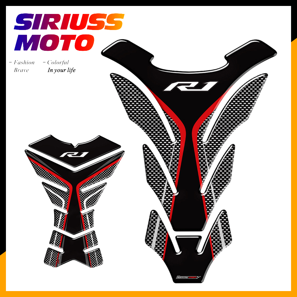 3D Motorcycle Tank Pad Protector Decal <font><b>Stickers</b></font> Case for <font><b>Yamaha</b></font> <font><b>R1</b></font> R1M YZF-<font><b>R1</b></font> Tank image