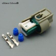 Shhworldsea 2 pinos 0.6mm carro fêmea à prova dfemale água habitação tomada conector automático com terminais e selos de borracha 9-967644-1