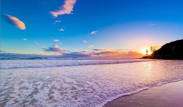 oural 3d paesaggio di mare di sabbia starfish soggiorno camera da ... - Carta Da Parati Paesaggi Naturali