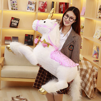 100cm Unicorn Plush Toys Giant Unicorn Stuffed Animal Horse Toy Soft Unicornio Peluche Doll Birthday Gift Children Photo Props